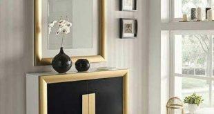 مدل جاکفشی دیواری آینه دار