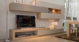 میز تلویزیون دیواری برای خانه کوچک